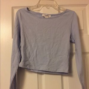 Light blue crop with long sleeves